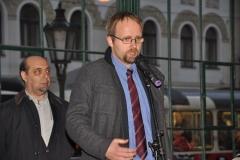 Zástupce Seliger Gemeinde, německé organizace sdružující bývalé německé sociální demokraty z Československa, historik Dr. Thomas Oellermann, tlumočil přítomným poděkování představitelů Seliger Gemeinde za připomenutí památky těch demokratických Němců, kteří se v roce 1938 postavili proti nacismu.