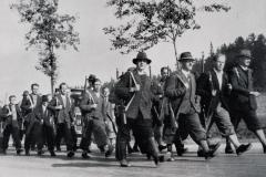 Ozbrojený freikorps pochoduje. jeho úkolem bylo vyvolávat neklid v pohraničí, napadat orgány čs. moci a terorizovat všechny, kdo nepodlehli nacistické ideologii.